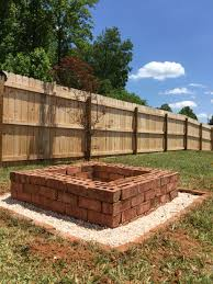 Firepit Base Square Brick Firepit With Pea Gravel Base Home Projects