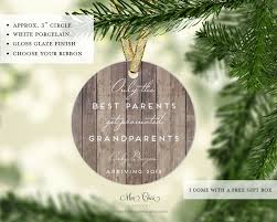 Grandparent Christmas Ornaments Only The Best Parents Get Promoted To Grandparents Christmas