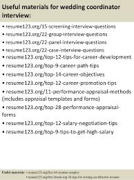 Wedding Resume Sample by Top 8 Wedding Coordinator Resume Samples