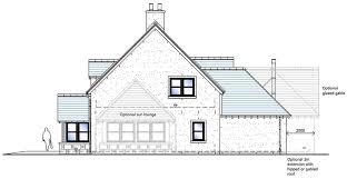 Side Elevation | house type a side elevation snowdrop developments