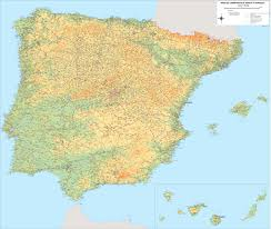 Portugal Spain Map by Vectorized Maps Digital Maps Increase Search Engine Traffic