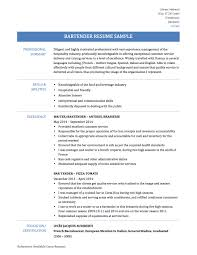 Bartender Resume Sample by Bartender Resume Samples Free Resume Example And Writing Download