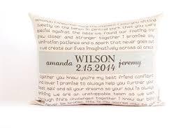 two year wedding anniversary gift wedding vows or song pillow anniversary gift two year