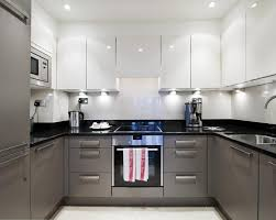 Plain Interesting Grey And White Kitchen Best  High Gloss - Gray and white kitchen cabinets