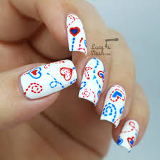 doodle nail art with tutorial valentine u0027s day nail design