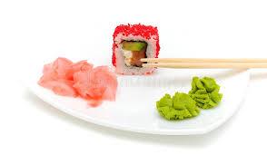 cuisine au gingembre cuisine japonaise roulis wasabi et gingembre mariné image stock