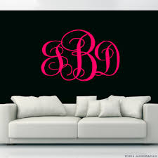 monogram wall decals for nursery monogram wall decals personalise your rooms and walls