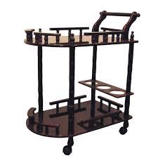 rolling serving cart storage wine drink shelves kitchen cocktail