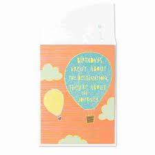 air balloon in glitter blue by just wink birthday cards