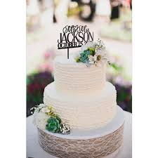 where to buy wedding cake toppers inexpensive personalized mr and mrs monogram wedding cake topper