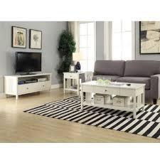 white living room table white coffee table sets you ll love wayfair