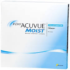 Most Comfortable Contacts For Astigmatism 1 Day Acuvue Moist For Astigmatism 90 Pack Contact Lenses By