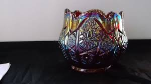 Red Glass Vases And Bowls Red Imperial Carnival Glass Vase Bowl