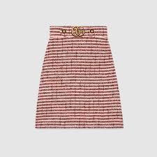 tweed skirt striped tweed skirt gucci women s skirts 430572zkm249369