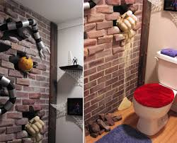 Superhero Bathroom Accessories by Spider Man Themed Bathroom We Ve Seen Our Share Of Bathrooms