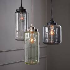 Three Pendant Light Fixture Glass Jar Pendant Jar Pendants And Glass