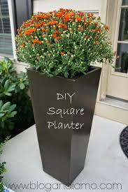Square Plastic Planters by Decor Tall Urn Planters Rectangular Planter Box Tall Planters