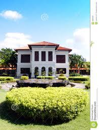 mansion house landscaping istana kampong stock photos