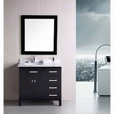 single sink vanity with drawers design element london 36 single sink vanity set in espresso with