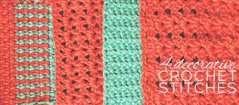 pattern of crochet stitches 4 decorative crochet stitch patterns for you to try