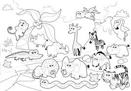 zoo coloring pages preschool coloring pages of zoo animals for preschool interesting zoo coloring
