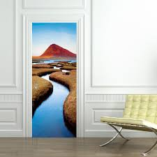 wall decals stickers home decor home furniture diy lake mountain landscape door wrap decal wall sticker personalized any name d78
