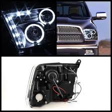 2009 dodge ram 1500 headlight bulbs 2009 14 dodge ram 1500 black ccfl halo led projector headlights