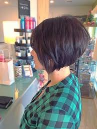 one side stack sassy bob bllack hair different and cool inverted bob hairstyle ideas short layered