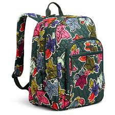 vera bradley cus tech backpack in falling flowers handbags