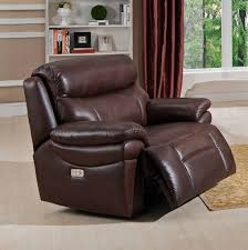 Reclining Chair And A Half Leather Summerlands Power Recliner Collection By Amax Leather