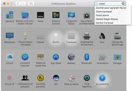 agrandir icones bureau macos modifier des réglages dans préférences système