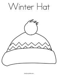Winter Hat Coloring Page Twisty Noodle Coloring Page Of A Hat