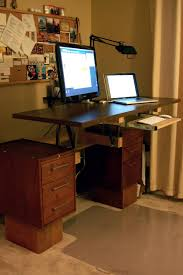 Cabinet For Printer Diy Convertible Standing Desk Desks And Diy Furniture