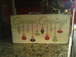 holiday sign on wooden board our stencils in use pinterest