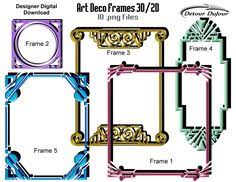 printable art deco borders 9 art deco frames 3d art deco borders art deco clipart metallic