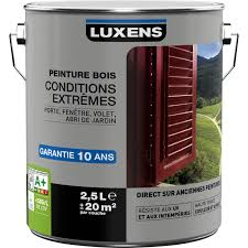 leroy merlin le exterieur peinture bois extérieur conditions extrêmes luxens blanc blanc n