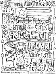 pledge allegiance melonheadz illustrating llc 2015 bw coloring