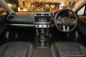 subaru outback interior 2017 2015 subaru outback 2 5i s launched in msia rm225k image 334250