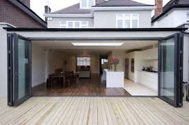 Cheap Bi Fold Patio Doors by Exterior View Of Minimal Windows To Rear Extension In London