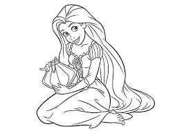beautiful smile of rapunzel princesses coloring pages batch coloring