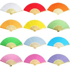 held paper fans 10pcs folding held bamboo paper fans pocket fan