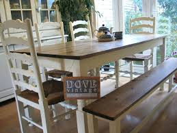 farmhouse table with bench and chairs table and chairs and bench large chunky pine board dining table 4