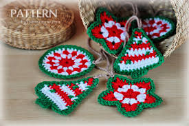 crocheted christmas crocheted christmas ornaments christmas ornaments tags zoom