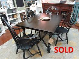 ethan allen table chairs ethan allen vintage farm style table and chairs just fine tables