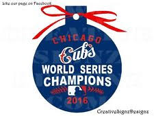 chicago cubs world series chions cubbies 3 ornament