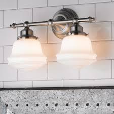 milk glass bath light 3 light shades of light