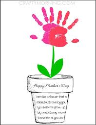 s day flowers gifts printable poem flower pot for s day kids can sy their