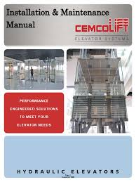 cemcolift im manual elevator belt mechanical