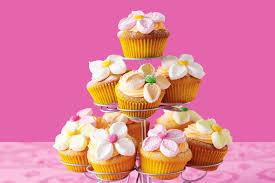 cupcake flowers orange marshmallow flower cupcakes