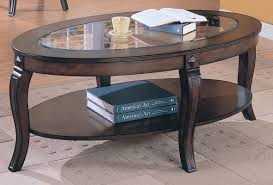 oval glass and wood coffee table amazing home design